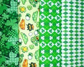 ST. PATRICKS fabrics, sold individually,not as a group, sold by the Half Yard, please see body of listing