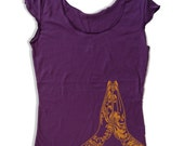 Womens NAMASTE Hands Scoop Neck Tee - American Apparel T Shirt S M L XL (7 Colors)