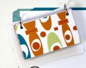 3 x 5 Index Card or Note Card Binder, Orange Blob Mix
