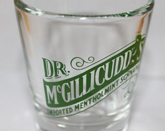 Vintage Shot Glass, Dr. McGillicuddy's Imported Mentholmint Schnapps