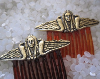 wonderful vintage hair combs, Egyptian
