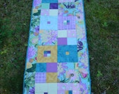 Teal and Purple Floral Table Runner