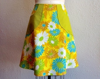 SALE Andie linen pocketed a-line skirt Sz 16