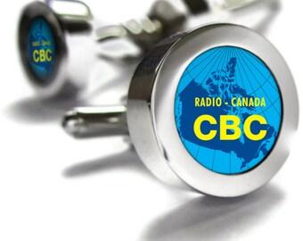 CBC Retro 1950's Cufflinks - retro Canadian gift, Canada themed gifts, retro gifts, Canadian gifts, Canadian Cuff links, dad gift