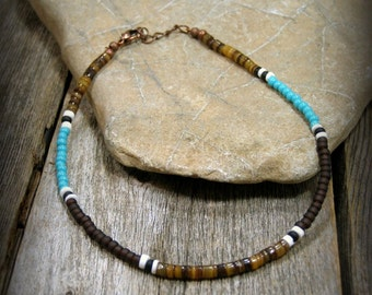 Native American Beaded Bracelet, Mens Minimalist Bracelet, Tribal Bracelet, Southwest Bracelet, Boho Bracelet, Stack Bracelet