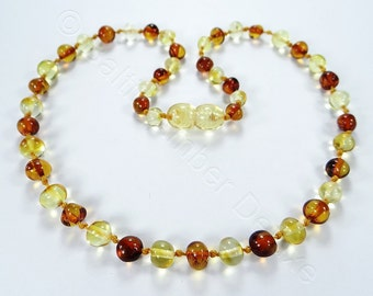 Honey and cognac baltic amber teething necklace