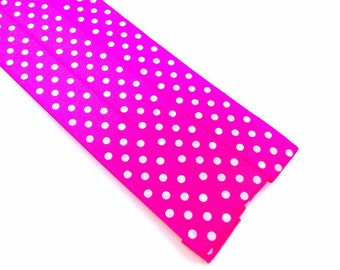 Pattern Magnet - Chart Keeper Magnetic Bookmark - Knitting Crochet Supplies Tools - Set of 3 - Polka Dots (hot pink)
