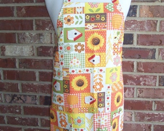Women's Full Apron, Fall Fun, Pocket Apron, Thanksgiving Apron, Autumn Apron, Kitchen Apron