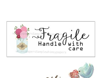 Fragile Stickers - Mason Jar - Handle With Care