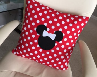 Minnie Mouse Inspired Pillow Cover