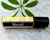 Neroli Roll On Perfume, classic sweet floral, concentrated vegan formula, Orange Blossom perfume