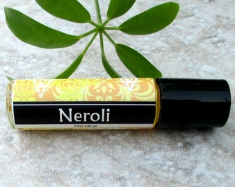 Neroli Roll On Perfume, classic sweet floral, concentrated vegan formula, Orange Blossom perfume