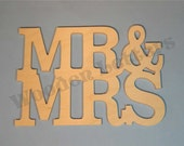 Mr and Mrs Connected and Stacked Words 1/2 Inch - wedding guestbook