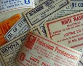 Antique Medical Druggist Dozen Pharmacy Gummed Labels