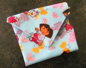 Reusable Dora the Explorer Eco Friendly Sandwich Wrap / School / Travel / Picnic