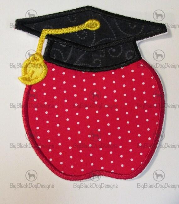 Iron On Applique -Apple Graduate