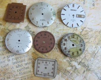 Vintage Antique Watch  Assortment Faces - Steampunk - Scrapbooking f4