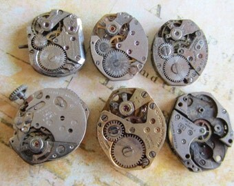 Steampunk watch parts - Vintage Antique Watch movements Steampunk - Scrapbooking o44