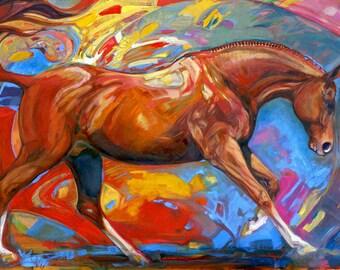 Alchemy EQUINE FINE ART Equestrian Horse Art Open Edition Print by Joanna Zeller Quentin