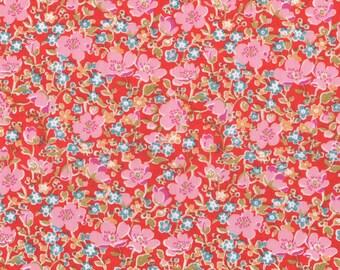 Liberty Fabric John D Tana Lawn Fat Quarter Bright Floral