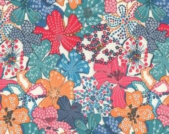 Liberty Fabric Mauvey G Tana Lawn One Yard Bright Floral