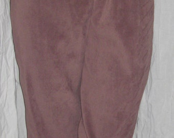 Mens rich Brown Suede-Look Knee Britches / Pants - Colonial, Pirate Renaissance Style - Med.