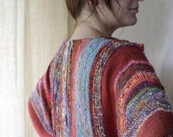Handwoven Jacket, Woven Wrap, Autumn Dreams