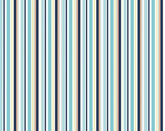 SPRING SALE - Pieces of Hope 2 - Stripes in Blue - C3405-Blue - 1 Yard - by The Rbd Team for Riley Blake Designs