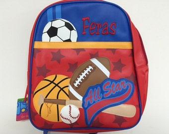 Stephen Joseph Sports Vinyl Go Go  Backpack Diaperbag