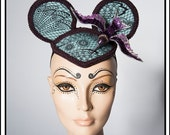 Flight… Minnie Mouse Ears in Mint and Plum with A HummingBird