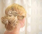 20% Off Sale, Gold Hair Comb, Bridal Hair Comb, Wedding Hair Clip, Wedding Hair Accessory, Gold Wedding Headpiece, Bronze Bridal Comb