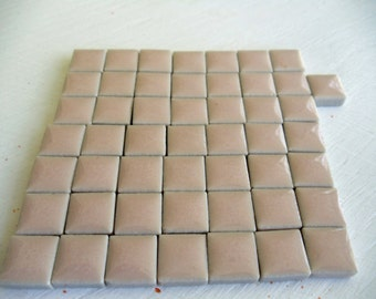 50 Count of Pale Pink 3/8 Inch Mosaic Tiles