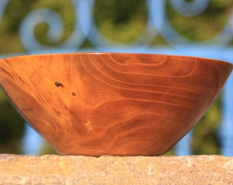 Mulberry Wood, Hand Made, Lathe Turned, Wooden Bowl