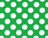 Green White Emerald Ta Dot Michael Miller Fabric 1 yard