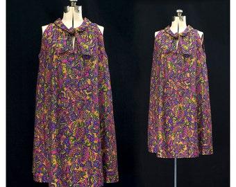 Vintage 60s Butterfly Flutterby Dress