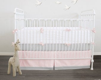 Baby bedding - Essential collection - Pastel -  2pc Crib Set // Crib Box pleat skirt and fitted sheet // Choose your fabric // RTS 2 weeks