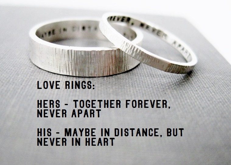 quote idea love rings his n hers promise by boutonrougedesigns