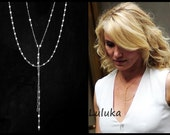 Lariat Necklace as seen on Cameron Diaz-Double Lariat Necklace, Y Lariat Necklace, Double Lariat Necklace, Gold Lariat Necklace,