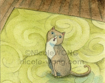 Original ACEO Painting -- Little Kitty-cat