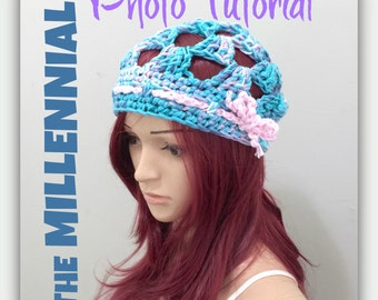 PATTERN - The Millennial Beanie - Crochet PhotoTutorial - Permission to Sell