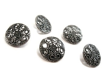 Silver Shank Sewing Buttons Filigree Gothic 18mm  (BM100)