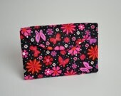 Butterflies and Flowers Diabetic Supply Tri-fold Tote