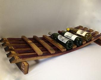 Napa Barrel Stave 7-Bottle Wine Rack