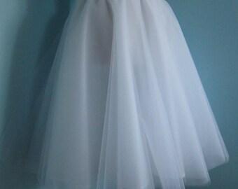Womens or Girls Layered Tulle White Skirt