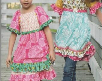 Sale!   The Vintage Jane peasant top and dress pattern (PFP028) - Pink Fig