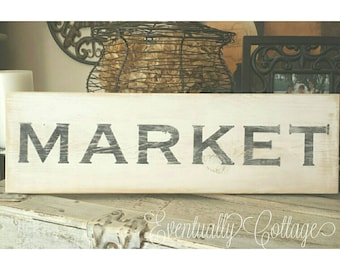 Hand painted Market sign