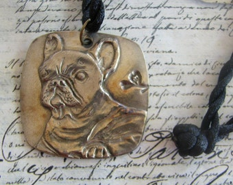 French Bull dog necklace by Dianne Kresevich