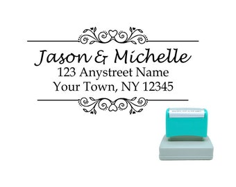 Personalized Self Inking Return Address Stamp - self inking address stamp - Custom Rubber Stamp R190
