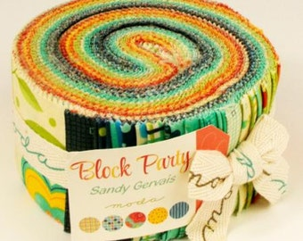 Jelly Roll - Block Party by Sandy Gervais for Moda