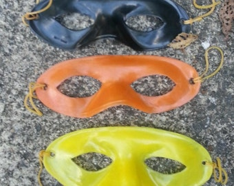 ALL THREE 1956 Lone Ranger Masks from NBC Radio ad in all 3 colors